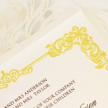Divine Damask Wedding Invite Card