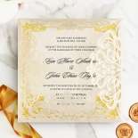 Divine Damask Invitation Card Design