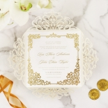 Divine Damask with Foil Wedding Invitation
