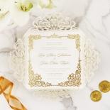 Divine Damask with Foil Wedding Invitation