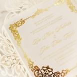 Divine Damask with Foil Wedding Invitation Card