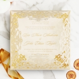 Divine Damask with Foil Wedding Card