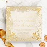 Divine Damask with Foil Wedding Card