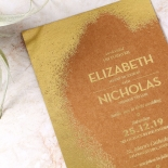Dusted Glamour Wedding Invite