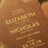 Dusted Glamour Invite Card