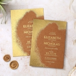 Dusted Glamour Wedding Card