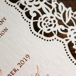 Floral Lace with Foil Wedding Invitation