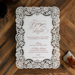 Floral Lace with Foil Wedding Invite
