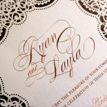 Floral Lace with Foil Invite