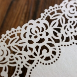 Floral Lace with Foil Invitation