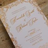 Flourishing Garden Frame Wedding Invite Card Design