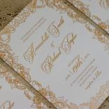 Flourishing Garden Frame Wedding Invitation Design