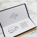 Forever Love Booklet - Navy Wedding Invite Card