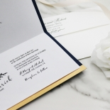 Forever Love Booklet - Navy Invite Card Design