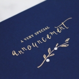 Forever Love Booklet - Navy Card Design