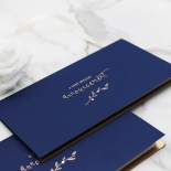 Forever Love Booklet - Navy Invitation Card Design