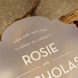 Frosted Chic Charm Acrylic Invite Card Design
