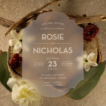 Frosted Chic Charm Acrylic Invite Card