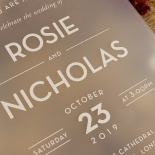 Frosted Chic Charm Acrylic Invitation Card Design