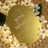 Gold Chic Charm Acrylic Invitation Card Design