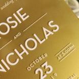 Gold Chic Charm Acrylic Invitation Design