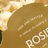 Gold Chic Charm Acrylic Wedding Invitation Design