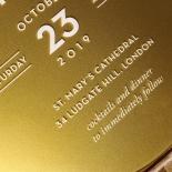 Gold Chic Charm Acrylic Wedding Invitation Card Design