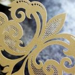 Gold Foil Baroque Gates Invite Design