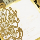 Gold Foil Baroque Gates Design