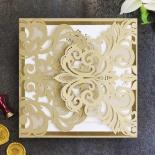 Gold Foil Baroque Gates Card