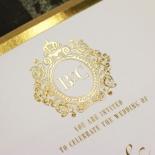 Gold Foil Baroque Gates Wedding Invite Design