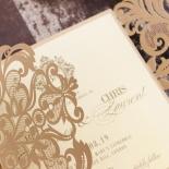 Golden Baroque Gates Invite Design