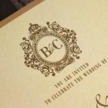 Golden Baroque Gates Wedding Invite Card Design