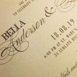 Golden Baroque Gates Wedding Invite Design