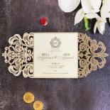 Golden Baroque Gates Invitation Design