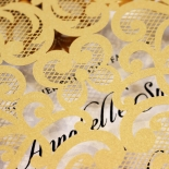Golden Baroque Pocket Wedding Invite Card