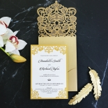 Golden Baroque Pocket Card Design