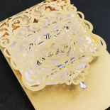 Golden Baroque Pocket Invite Card