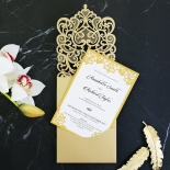 Golden Baroque Pocket Invitation Card Design