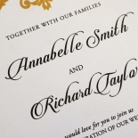 Golden Baroque Pocket Wedding Card