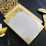 Golden Baroque Pocket with Foil Invite Card Design