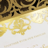 Golden Baroque Pocket with Foil Card Design