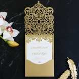 Golden Baroque Pocket with Foil Invite Card