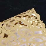 Golden Baroque Pocket with Foil Invitation Card Design