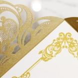 Golden Divine Damask Invitation Card Design