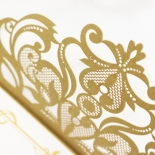 Golden Divine Damask Invitation Design