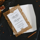 Golden Floral Lux Invitation Card