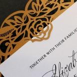Golden Floral Lux Wedding Card