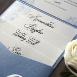 Graceful Wreath Pocket Invite Card Design
