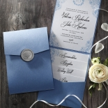 Graceful Wreath Pocket Wedding Invitation Card